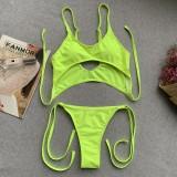 Um pedaço de Neon Green Sexy Swimwear