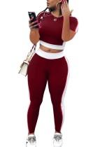 Block Colour Crop Shirt en Leggings