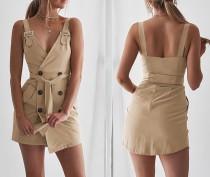 Mini vestido ancho con cierre de tiras