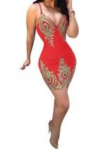 Figurbetontes Kleid mit Retro-Trägern