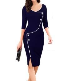 Elegante vestito Slim Fit