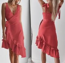 Sexy y elegante vestido de abrigo irregular