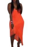 Sexy Riemen Quasten Unregelmäßiges Kleid