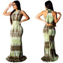 Schlangenhaut Sexy Scoop Maxi-Kleid