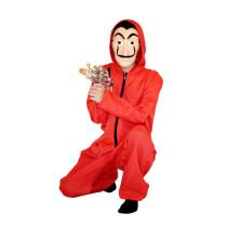 Mens treino vermelho macacão com mangas cheias