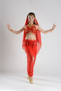 Costumes de danseuse indienne