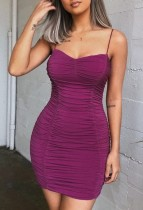 Sexy Straps Short Ruched Dress