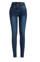 Stilvolle Stretch-Jeans mit hoher Taille