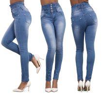Jeans ajustados con cintura alta y estilo sencillo