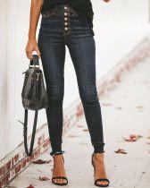 Jeans negros de cintura alta que se lavan