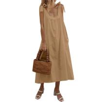 Breiter Riemchen Einfaches Boho-Kleid