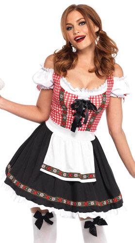 Sexy Riemen Bier Mädchen Kostüm