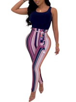 Sleeveless Jumpsuit with Belt