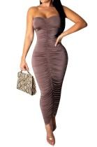 Vestido largo color liso sexy tubo