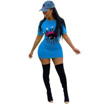 Kurzärmliges, langärmliges T-Shirt-Kleid