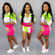 Sports Contrast Jersey and Shorts