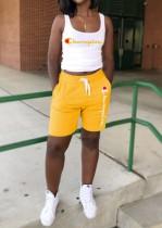 Sport Print Tank und Shorts