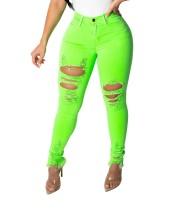 Sexy ajustados pantalones rotos