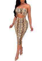 Schlangenhaut sexy trägerlosen ausschnitt dress