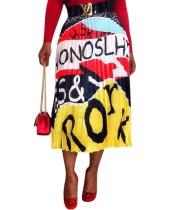 Falda Maxi Plisada Estampada Africa