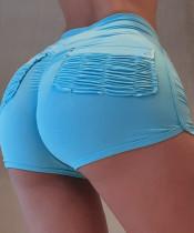 Shorts deportivos con ribete en contraste