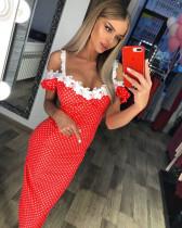 Sexy abnehmen straps polka dress