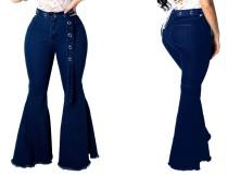 Pure Wide Blue Jeans con cinturón