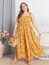 Vestido largo floral con talla grande