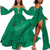 Sexy Sweetheart Split Langes Kleid mit weiten Ärmeln