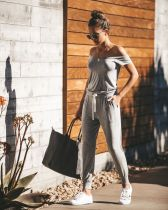 Casual PocketJumpsuit with Drawstring Wasit