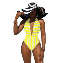 Swimsuit despojado de uma peça Deep-V