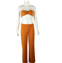 Sexy Bandeau Top and Wide Trousers