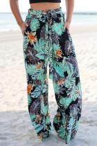 Pantalones sueltos con estampado de mar