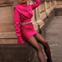 Loose und Fit Mini Ruch Dress