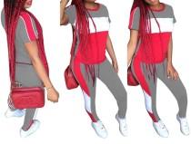 Chemise et leggings contrastants à col rond