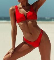 Einteiliger Badeanzug, einfarbig