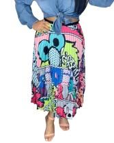 Kleurrijke Hippie Maxi-rok afdrukken