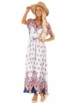 Summer V-Neck Bohemian Long Dress