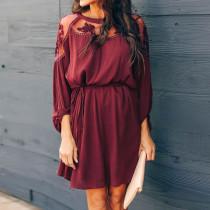 Lässiges, kurzes Kleid mit Knallärmeln