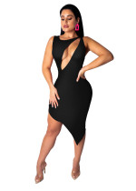 Sexy Cut Out Irregular Bodycon Dress
