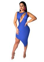 Sexy, figurbetontes, unregelmäßiges Kleid mit Ausschnitten
