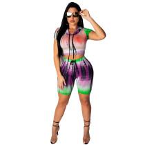 Sexy Batik Hoody Crop Top en Shorts