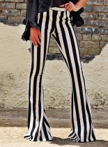 Lässige Stripped White und Black Pants