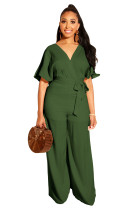 Casual Summer Wrapped Jumpsuit with Belt