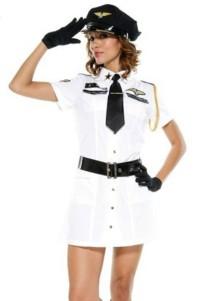 Frauen Sexy White Police Kostüm