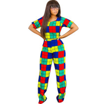 Camisa y pantalones coloridos de la cosecha