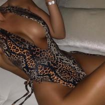 Swimwear De Uma Peça Sexy Leopardo