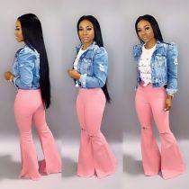 Bellissima Jeans strappati rosa