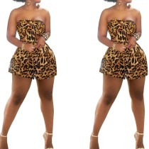 Sexy Strapless Leopard Rompers
