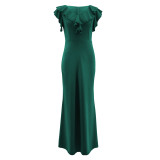 Elegant Ruffles Mermaid Evening Dress
